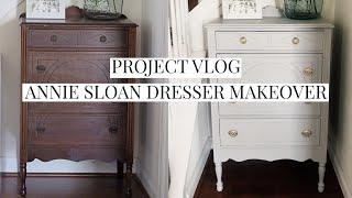 Annie Sloan Chalk Paint Dresser Makeover - Project Vlog