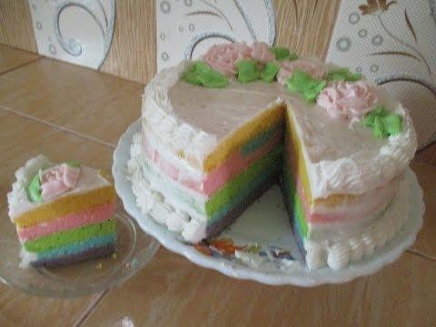 Video Resep Dan Cara Membuat Kue Tart Rainbow Cantik @Dafa TubeHD