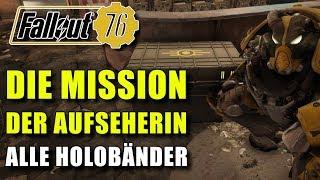 Die Mission der Aufseherin   Alle Logbücher Locations Guide   Fallout 76