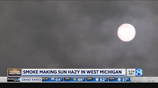 Wildfire smoke causes hazy skies over West Michigan