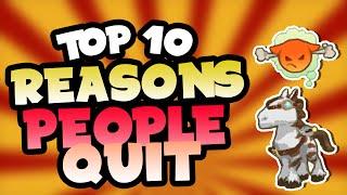 Top 10 Reasons People Quit Animal Jam