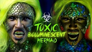 TOXIC BIOLUMINESCENT MERMAID | Halloween Makeup Tutorial