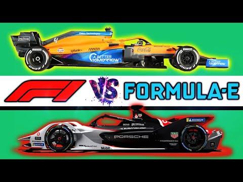 FORMULA 1 vs FORMULA E 🔥 DIFERENCIAS ¿Cuál es *MÁS RÁPIDO*? ¿Qué es y Cómo Funciona? Guía | F1 vs FE