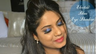 Image for video on Electric Blue Eye Shadow Tutorial | Colourpop Eye Shadow Etiquette by Ria Rajendran