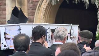 Funeral of New Romantic icon Steve Strange from Visage with eulogy from Boy George of Culture Club