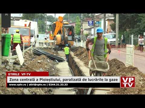 Zona centrală a Ploieștiului, paralizată de lucrările la gaze