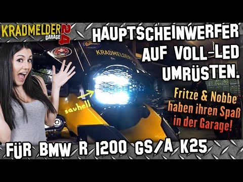 Motorrad-Scheinwerfer auf LED umrüsten ✫ plug & play #update BMW R 1200 GS 🔧 Kradmelder24 Garage