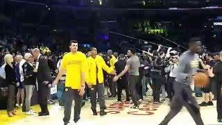 Mamba Out: Kobe Bryant's last warmup
