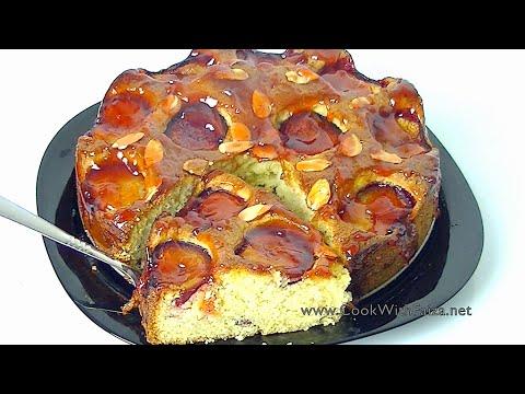 PLUM & ALMOND CAKE *COOK WITH FAIZA*