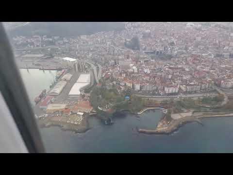 Η Τραπεζούντα όπως φαίνεται από το αεροπλάνο