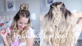Braided top knot, two ways to wear it!