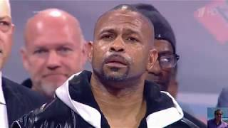 Roy Jones. The Russian National Anthem. That's respect for the nation.