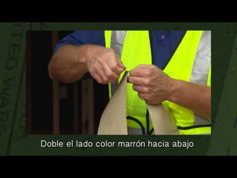 How to Remove the ZIP System™ Tape Backing - Spanish