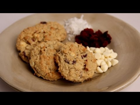 White Chocolate Coconut Cranberry Oatmeal Cookie Recipe – Laura in the Kitchen Ep 285