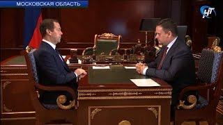 Врио губернатора Андрей Никитин встретился с председателем Правительства страны Дмитрием Медведевым