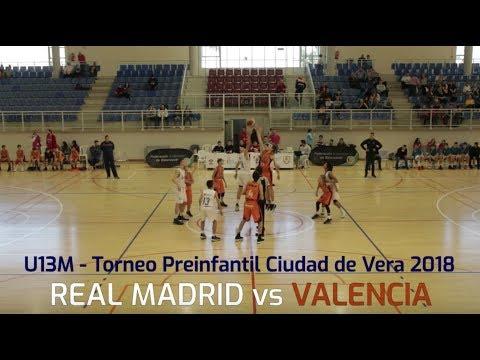 U13M - REAL MADRID vs VALENCIA.- Torneo Preinfantil Ciudad de Vera (Almería) 2018