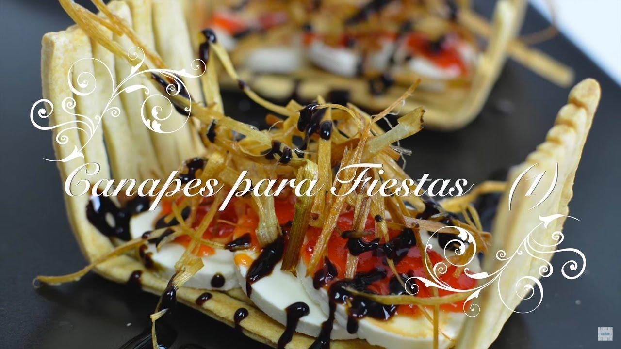 Canapes para Fiestas 1 | Canapes Originales | Canapes faciles y baratos | Recetas de Cocina