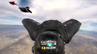 Wing-suit in slow-motion