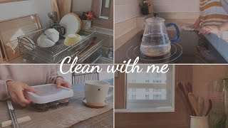 SUB) How to keep kitchen clean with little effort / Reduce disposables in daily life