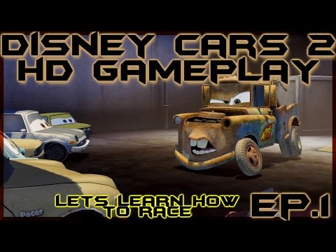 Lighting McQueen DIsney Cars 2 HD Lets Play - PS3 Gameplay By DisneyToyCollector
