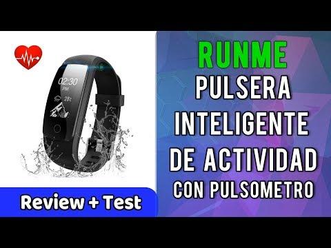 Runme Pulsera Inteligente Actividad Pulsometro IP67 Monitor de Calorías | UnBoxing Review en Español