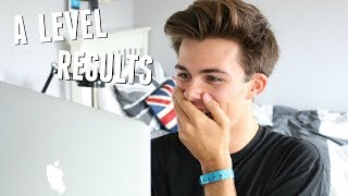 REACTING TO MY A LEVEL RESULTS 2017 - LIVE RESULTS DAY REACTION | Jack Edwards