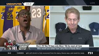 UNDISPUTED - Skip & Shannon discuss top reciever: Jerry Rice or Randy Moss