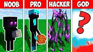 Minecraft NOOB vs PRO vs HACKER vs GOD : ENDERMAN MONSTER EVOLUTION BATTLE in Minecraft Animation