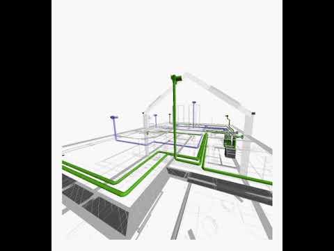 2D & 3D Animated MVHR Design (walkthrough)