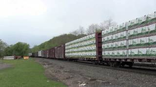 preview picture of video '[HD] CSX Mixed Manifest Train Q620 at Fonda, NY'