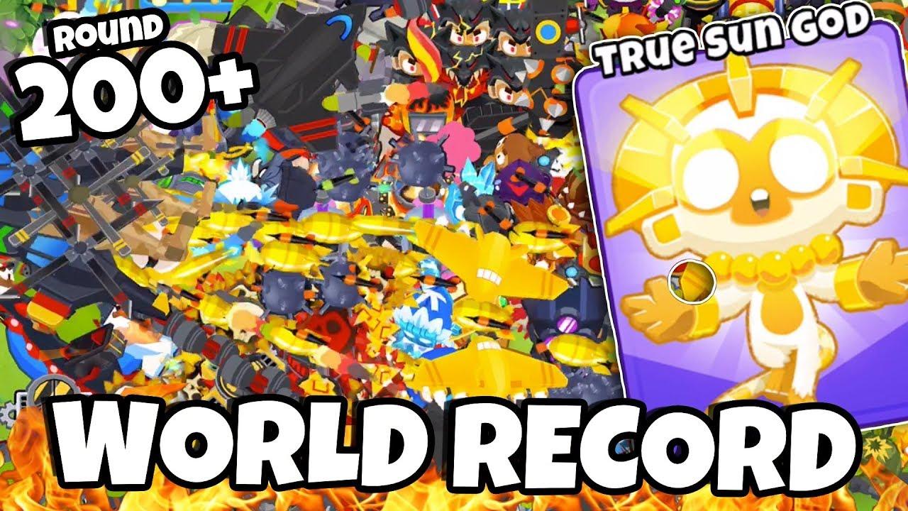 200+ ROUND WORLD RECORD *LATE GAME* - BTD 6 Highest Round