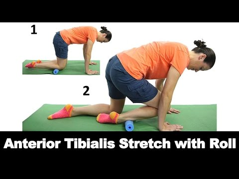 Anterior Tibialis Stretch with Roll - Ask Doctor Jo
