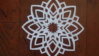 Paper snowflake challenge 2- Detailed tutorial-  Advanced level - Can YOU do it?