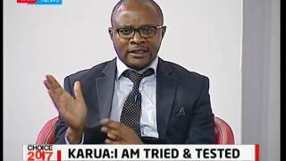 Aspirant Macharia Karani faces tough competition against Anne Waiguru in Kirinyaga: Choice 2017 pt 2