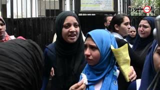 preview picture of video 'بكاء وحالات اغماء بالمنصورة بعد امتحان اللغة الانجليزية'