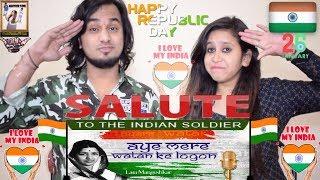 Aye Mere Watan Ke Logon    Lata Mangeshkar    Republic Day (26 Jan) Special Indian Reaction 🇮🇳😘