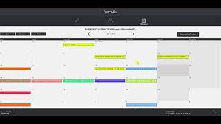 Intranet formateurs : saisie de planning par les intervenants (V1 Oct 2020)