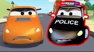 Авто Патруль: пожарная машина и полицейская машина, и гонка в Автомобильный Город