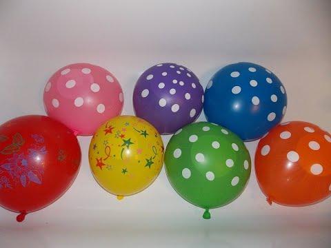 Изучаем цвета Лопаем шарики с водой