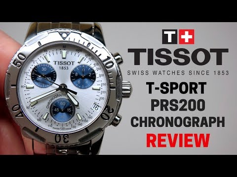 (4K) TISSOT T-SPORT PRS200 CHRONOGRAPH MEN'S WATCH REVIEW MODEL: T17.1.486.34