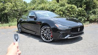 2021 Maserati Ghibli Trofeo: Start Up, Exhaust, Test Drive and Review