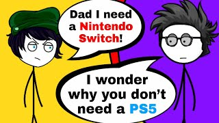 What if your dad buys Nintendo Switch for your little Sister