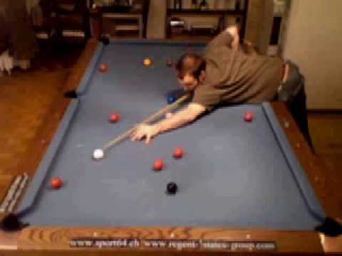 Snooker 155 Break From Free Ball On Pool Table