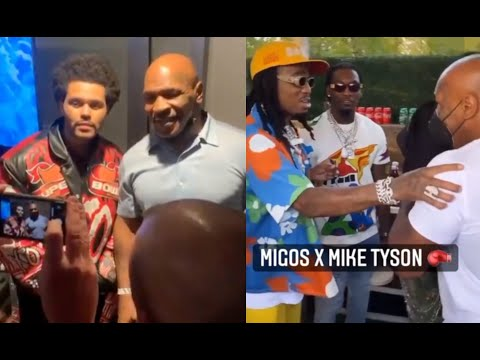 Mike Tyson Meets The Weeknd And Migos For The First Time At Super Bowl