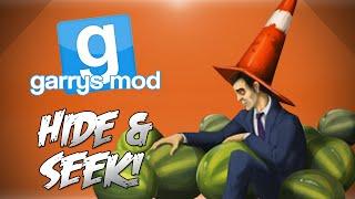 GMod Hide&Seek! - Watermelon Fun Zone, Minecraft, Rock, Paper, Scissors&More (Funny Moments)