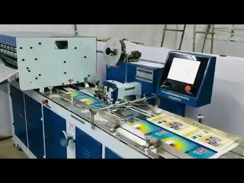 Automatic PLC controled Notebook Stitching, folding and edge squaring line.