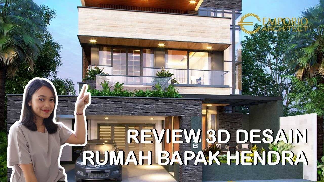 Video 3D Mr. Hendra Modern House 2 Floors Design - Kediri, Jawa Timur