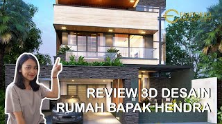 Video Mr. Hendra Modern House 2 Floors Design - Kediri, Jawa Timur