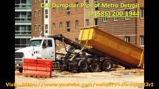 Dumpster Pros of Metro Detroit (586) 200-1944 - Detroit, MI