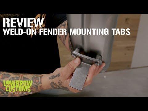 Weld-on Fender Mounting tabs for Custom Motorcycle – Chopper – Bobber – Review